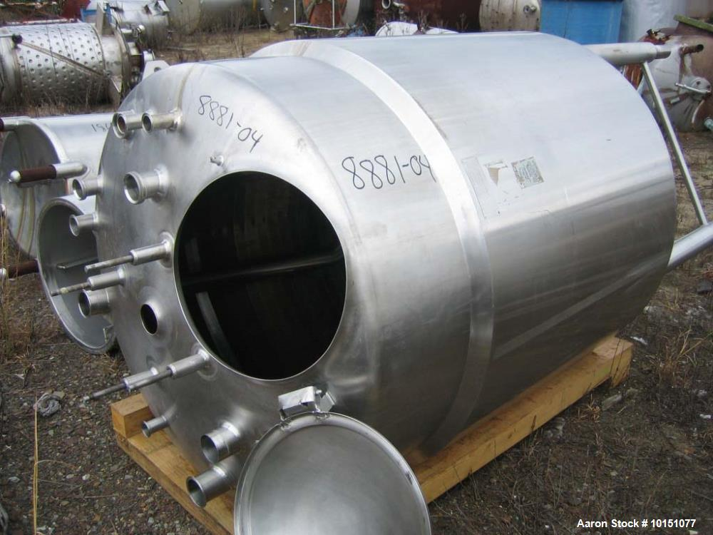 Used-Cherry Burrell Jacketed Process Vessel, 300 Gallon