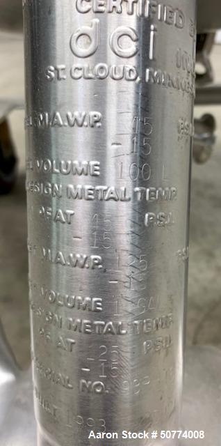 Used- DCI Reactor, 100 Liters