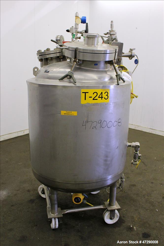 Used- Letco Inc. Reactor, 100 Gallons, 316L Stainless Steel, Vertical.