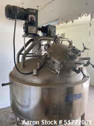 Used- Mueller Tank,  Stainless Pressure Vessel / Tank. Approximately 150 Gallon,