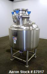 Used- Precision Stainless Reactor, 500 Liter (132 Gallon)