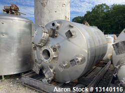 Used-Walker 2000 Gallon AL6XN Stainless Steel Vertical Jacketed Tank