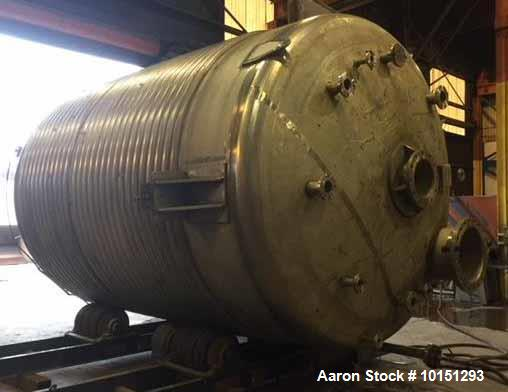 Used- 8000 Gallon 304L Stainless Steel Reactor