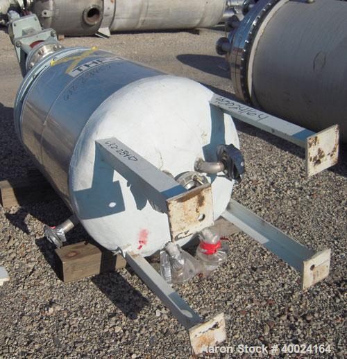 "Used- Tolan Reactor, 150 gallon, 316L stainless steel, vertical. 30"" diameter x 48"" straight side, clamp on dish top, dish b..."