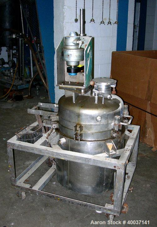 """Used-Used: Buckley Iron Works reactor, 35 gallon, stainless steel, vertical. 20"""" diameter x 24"""" straight side, dished clamp ..."""