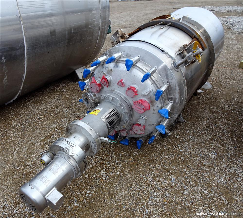 Used- Holloway Reactor, 1000 Liter (264 Gallon), 316L Stainless Steel, Vertical.
