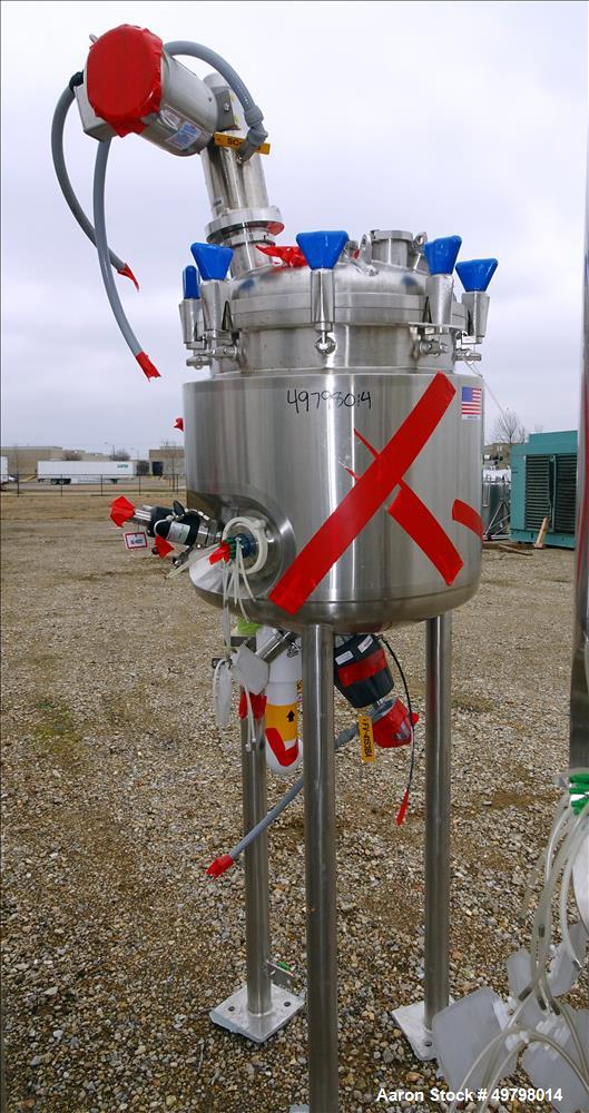 Used- Holloway Reactor, 200 Liter (52 Gallon), 316L Stainless Steel, Vertical.