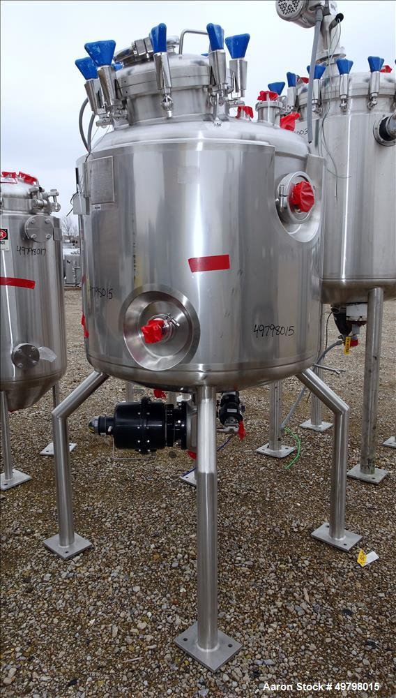 Used- Holloway Reactor, 500 Liter (132 Gallon), 316L Stainless Steel, Vertical.