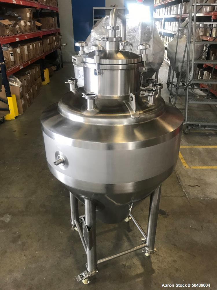 Unused- Approximate 100 Gallon (2BBL) Stainless Steel Chemical Reactor