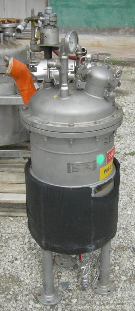 """Used: Acme Industrial reactor, 12 gallon, stainless steel. Approximately 14"""" diameter x 20"""" straight side, dished bolt on to..."""