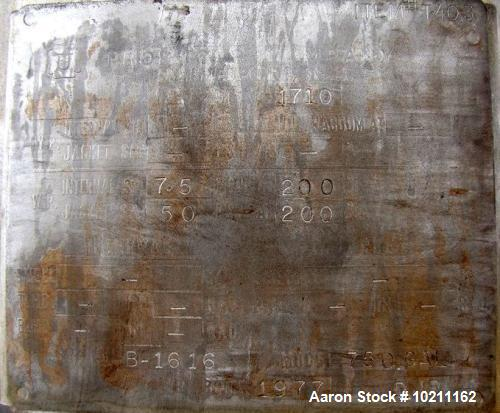 Used- 750 Gallon Stainless Steel All Weld Reactor
