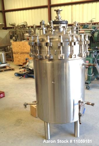 Used- 100 Gallon Cherry Burrell Sanitary Reactor. Rated 150/FV PSI at 400 Deg.F. internal and 150 PSI at 400 Deg.F. on the j...