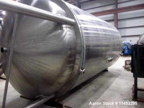 """Used- DCI Inc. 6500 Gallon, 316L Stainless Steel Polished Reactor. 8'6"""" diameter x 16' long. Dished heads. Internal 45 PSI/F..."""