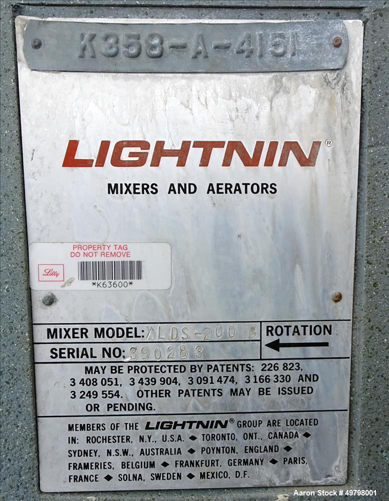 Used- DCI Reactor, 2,500 Liter (660 Gallon), 316L