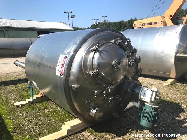 Used- 1320 Gallon (5000 Liter) Precision Stainless Sanitary Pharmaceutical Reactor. 316L Stainless steel shell rated 56/ ful...