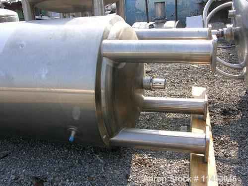 Unused-3900 liter (1030 gallon) Feldmeier reactor. 316L stainless steel construction, 25Ra electro-polished internal finish,...