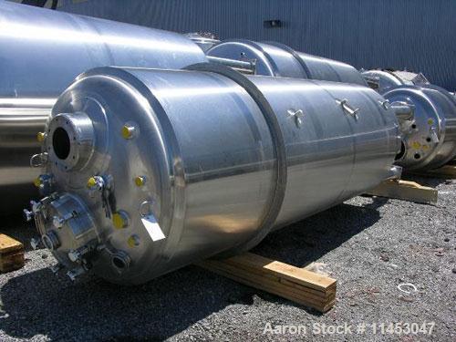 Unused-4500 liter (1188 gallon) Feldmeier reactor. 316L stainless steel construction, 25Ra electro-polished internal finish,...
