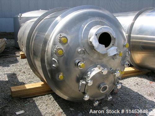 Unused-5000 liter (1320 gallon) Feldmeier reactor. 316L stainless steel construction, 25Ra electro-polished internal finish,...