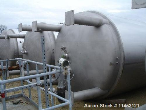 """Used-5000 Gallon Feldmeier Reactor, 316L sanitary stainless steel construction. 8'4"""" diameter x 12' straight side, dished to..."""