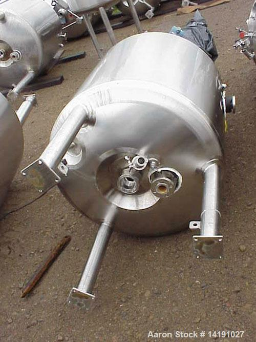 Used-Feldmeier approximately 125 gallon (500 liter) agitated, jacketed, sanitary stainless steel reactor with no Lightnin fr...