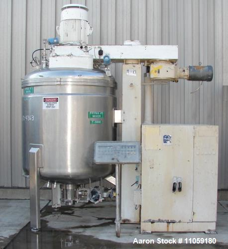 Used- 2400 liter Used Fryma VME-2400 Vacuum Processing Vessel. Sanitary construction, 2400 Liter (630 Gallon) working capaci...
