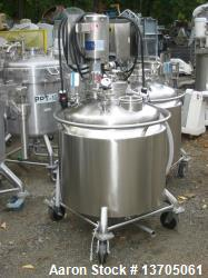 Used- 60 Gallon Vertical Jacketed Dual Agitated Reactor