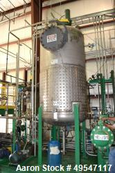 """Used- Constructora Quimica Reactor, Approximate 825 Gallon, Stainless Steel, Vertical. Approximate 52"""" diameter x 86"""" straig..."""