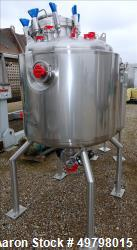 "Used- Holloway Reactor, 500 Liter (132 Gallon), 316L Stainless Steel, Vertical. 36"" Diameter x 30"" straight side, dished top..."