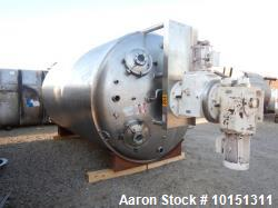 Used Lee 5,000 Gallon Stainless Steel Vertical Reactor