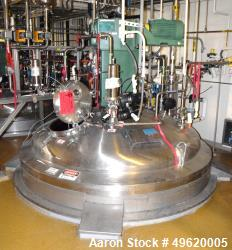 "Used- DCI Reactor, 10,000 Liter (2641 Gallon), 316L Stainless Steel, Vertical. 84"" Diameter x 106"" straight side, dished top..."