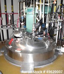 "Used- DCI Reactor, 5,000 Liter (1320 Gallon), 316L Stainless Steel, Vertical. 66"" Diameter x 84"" straight side, dished top a..."