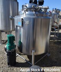 Used- DCI Reactor, 1,000 Liter (264 Gallon), 316L Stainless Steel
