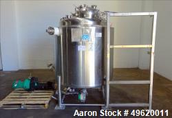 "Used- DCI Reactor, 1,000 Liter (264 Gallon), 316L Stainless Steel, Vertical. 42"" Diameter x 42"" straight side, dished top an..."