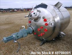 Used- DCI Reactor, 2,500 Liter (660 Gallon), 316L Stainless Steel, Vertical.