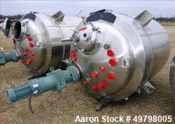 2,500 liter DCI Inc 316L SS Reactor, vessel rated 50 psi @350F, jacket rated 100 psi @ 350F, Built 1994, NB #2596, Serial # ...