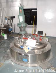 "Used- DCI Reactor, 2,500 Liter (660 Gallon), 316L Stainless Steel, Vertical. 54"" Diameter x 60"" straight side, dished top an..."