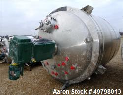 Used- 10,000 Liter DCI Inc 316L SS Reactor,