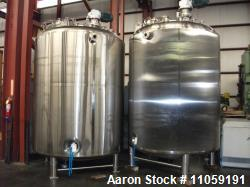 Used- 2600 Gallon (10000 liter) Feldmeier Sanitary Pharmaceutical Reactor. 316L Stainless steel shell rated 54 psi/full vacu...