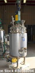 Used- Feldmeier Reactor, 250 Liter (66 Gallons), 316L Stainless Steel, Vertical.