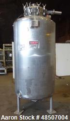 Used- Northland Stainless Reactor, 470 Gallon, 316L Stainless Steel, Vertical.