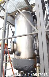 "Used- Northland Stainless Resin Reactor, 790 Gallons, 304 Stainless Steel, Vertical. Approximate 48"" diameter x 96"" straight..."