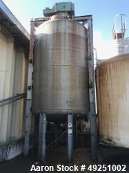 "Used- Perry Products Reactor, 10,000 Gallon, 304 Stainless Steel, Model 10000D.J.R., Vertical. 126"" Diameter x 168"" straight..."