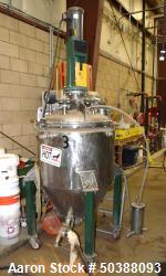"Used- Walker Reactor, 80 Gallon, Model D-408-4W, 316L Stainless Steel, Vertical. Approximately 29-1/2"" diameter x 24"" straig..."