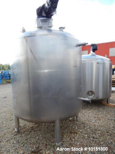 Used- Approximately 1,000 Gallon (4,000 Liter) Stainless Steel Vertical Reactor