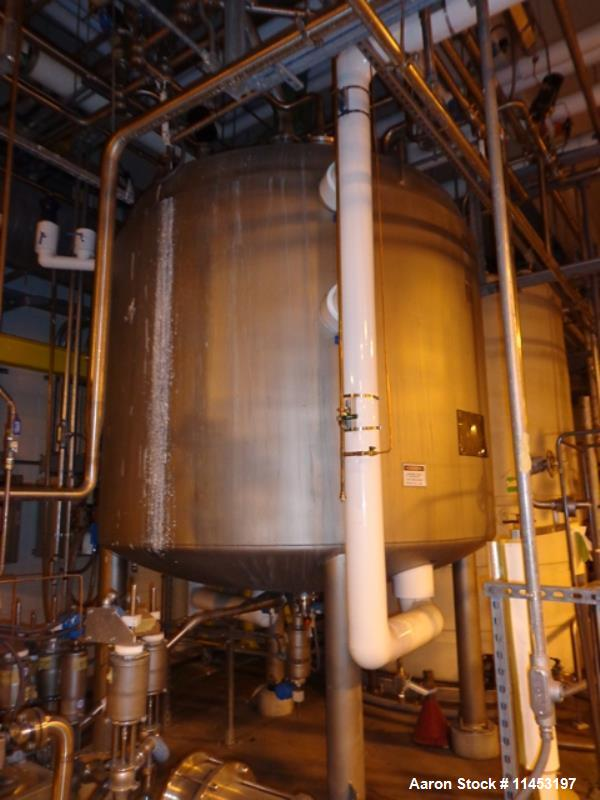 Used- 2000 Gallon Stainless Steel Mueller Reactor