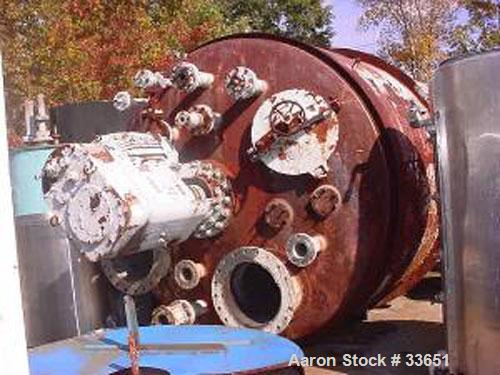 "Used- Reactor, 5500 Gallon, 316 Stainless Steel Clad, Vertical. 102"" Diameter x 144"" straight side, dished top and bottom. P..."