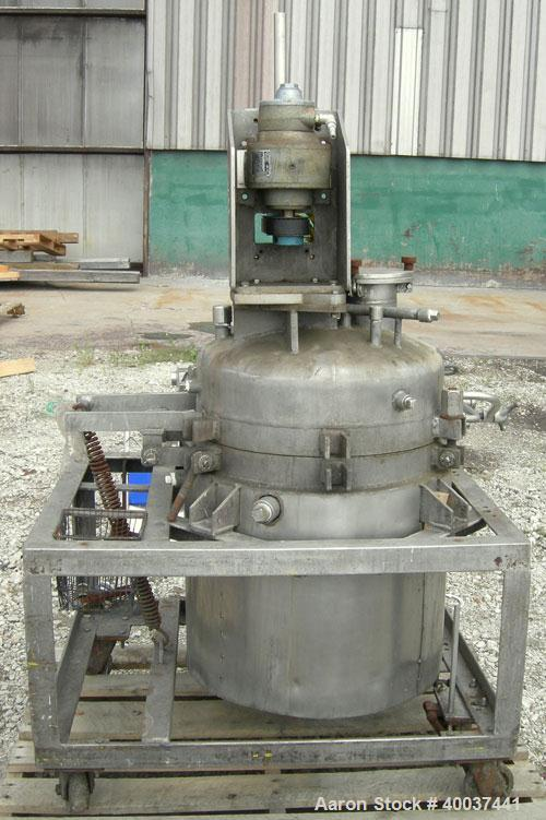 "Used- Buckley Iron Works Reactor, 35 gallon, stainless steel, vertical. 20"" diameter x 24"" straight side, dished clamp top, ..."