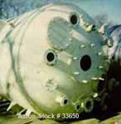 Used- Nooter Boiler Works Reactor, 3500 Gallon, Stainless Steel, Vertical. 96'' diameter x 96'' straight side, dished top an...