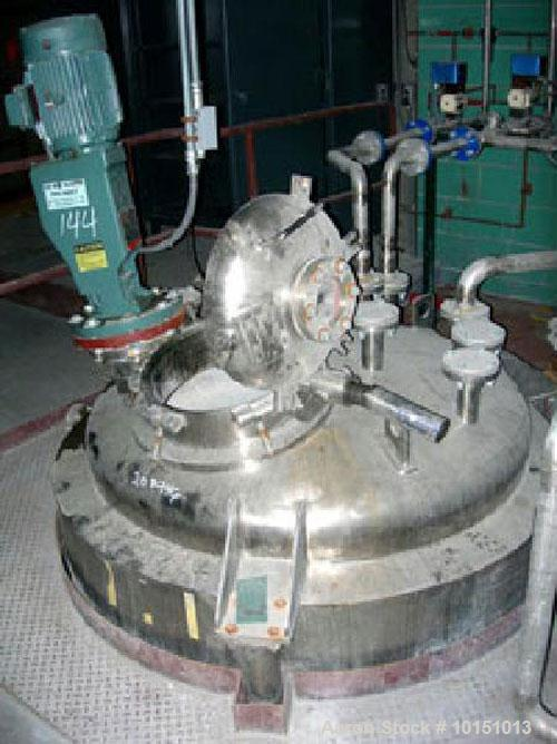 Used-Northland Stainless Approximately 575 Gallon Vertical 316L Stainless Steel Reactor. Rated 100 psi/full vacuum internal ...