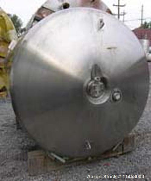 "Unused-ONE (1) Used 1500 gallon (6000 liter) Northland Stainless Reactor, 316L stainless steel construction, 70"" diameter x ..."